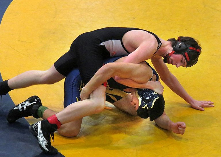 Quintin Sebree competes at 138 pounds during the Mary Walker Tournament on Saturday.