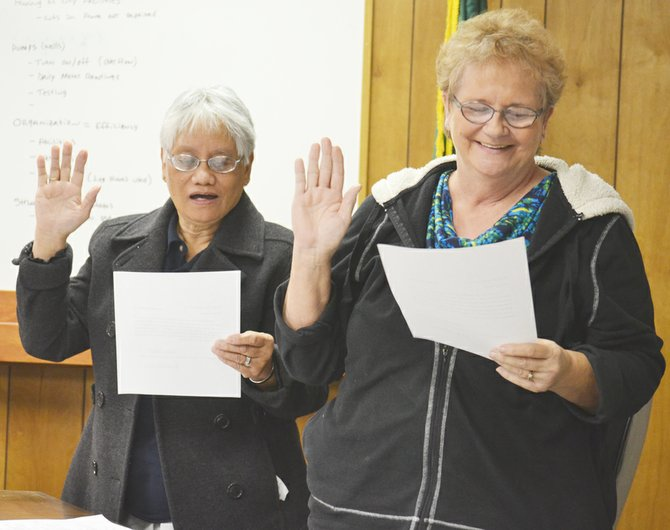 Last week the Mabton City Council appointed Vera Zavala (R) to fill the council's open Pos. 4 seat. Zavala, who has more than 20 years of experience in Mabton city government, was sworn into office, along with council members Oping Hutson (L), Sophia Sotelo and Mark Gourneau, who were all re-elected in last November's General Election.
