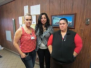 Dinora Trejo, center, with Juana and Paula Magana, who helped her prepare food.