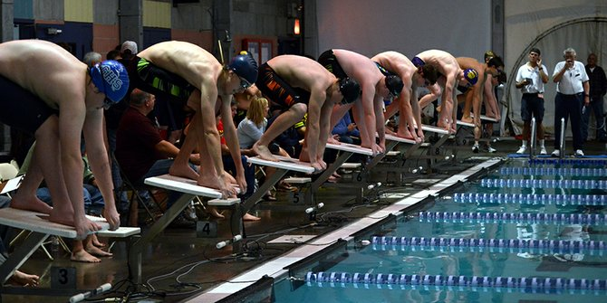 get set: HRVHS swim team hosted its annual invitational meet last weekend, with 11 teams in attendance.