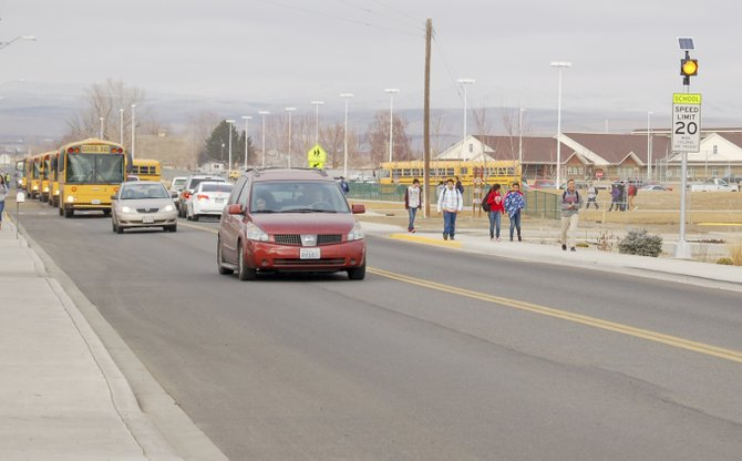 A pair of new safety beacons have been installed near Sierra Vista Middle School and Sun Valley Elementary School on North 16th Street to remind drivers to go slower on the road. A traffic study showed that drivers exceed the 20 mph speed limit regularly on that stretch of road.