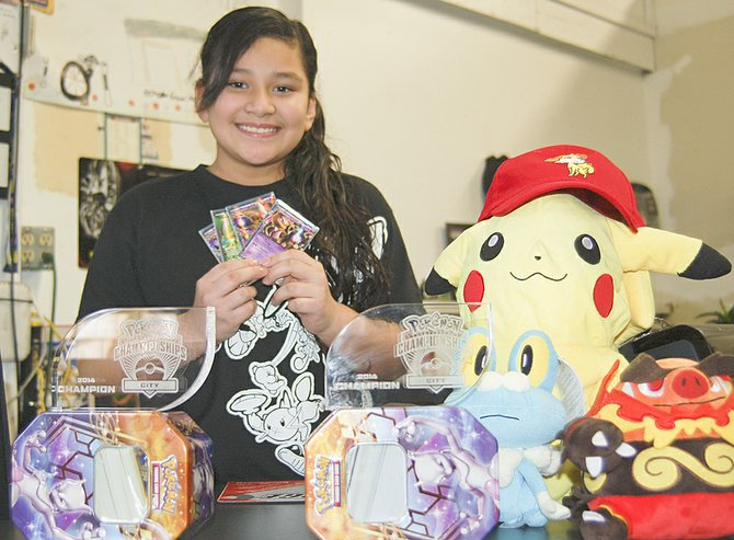 Maria Herrera of Sunnyside recently won two Pokémon city championships, one in Richland this past December and one in Spokane earlier this month. She next plans to attend a regional competition in Utah in April.