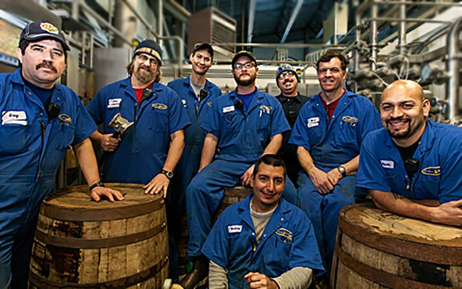 IMPERIAL STOUT brew crew from Full Sail Brewery. The annual stout release (this one made in 2012) happens Feb. 6 at the brewery.