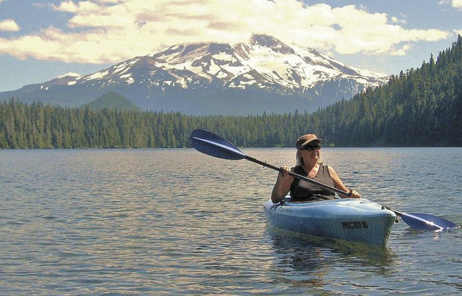 KAYAKING HAS BECOME an activity Bonnie Sperry and her husband can do together — and it's a great stress-reliever.	Contributed photo