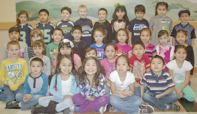 Sunnyside's Sun Valley Elementary School students  of the month for January include (front row L-R) Jesus Mendoza-Adame, Jolissa Campos, Victoria Hernandez, Jennifer Banda and  Victor Orozco; (second  row L-R) Connor Tourand, Gisselle Salgado, Melissa Cruz-Chadis, Marita Miranda, Jaylyn Ramos, Emilio Ornelas and Kami Garcia; (third row L-R) Emily Macias, Jazlyn Perales, Abel Gonzalez, Uriel Olmeda, Valeria Alvarado, Karelle Gaytan, Alicia Martinez, Suliema Medina and Evelyn Bibiano-Leyva; (back row L-R) Baylee Maldonado, Jose Bustamante, Cristian Medrano, Spencer Parsons, Diego Chadis, Jennifer Jaimes-Calvillo, Eddy Gomez, Angelique Sanchez and Adrian Ramos. Not pictured is Oscar Gutierrez.