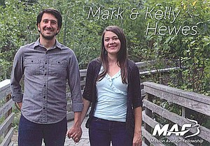 The above picture of Mark and Kelly Hewes goes out to potential donors and those who have committed to pray for the couple.
