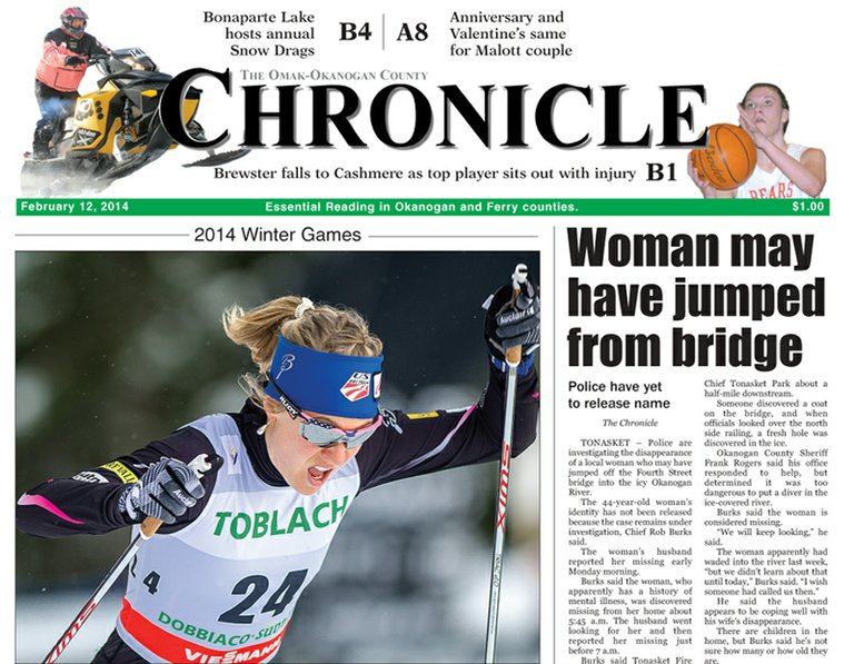 Due to press issues, The Chronicle may arrive late for some readers this week.