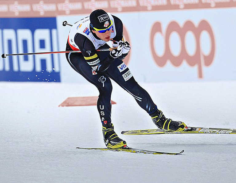 Erik Bjornsen competes in an event prior to heading to Sochi, Russia, for the 2014 Winter Games.