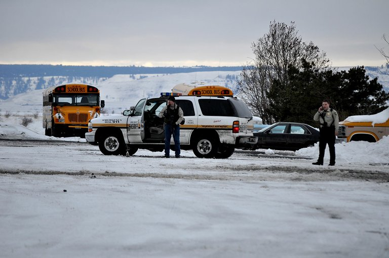 Deputies with the Lewis County Sheriff's Office were stationed at the GHS parking lot south entrance.