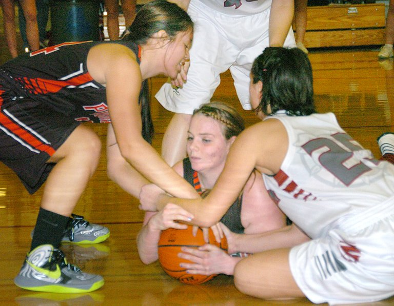 The Omak and Okanogan girls have face each other several times this season, including this game Jan. 3.