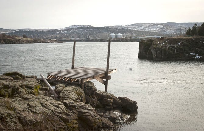 THE PORT of The Dalles is taking steps to remove an unauthorized, deck-like platform at Klindt Cove, they have deemed an attractive nuisance. After contacting various agencies, they do not believe it is a Native American fishing structure.