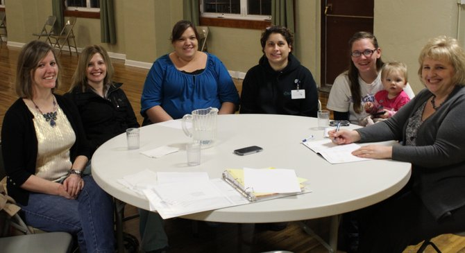 Mardi Gras committee members include (L-R)  Shelli Schumacher, Tina Fernandez, Natalie Lattimer, Collettee Schaeffer, Jessica Enneking (member in training-Shyann Myers) and Brenda Kaschmitter. Not pictured are Joyce Gehring-Sonnen and Theresa Uptmor.