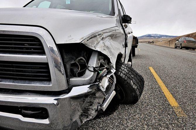 Two-vehicle crash on U.S. Highway 95 Monday, Feb. 17, north of Fenn..