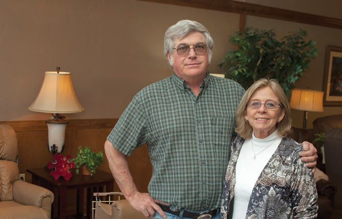 RON AND CAROL VERGEER own Downey's Furniture, where remodeling and rearrangement have created two separate showrooms, one for leather and other upholstered goods, the other for mattresses, custom draperies and bedroom furniture. They've also added a custom-order center.