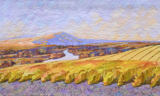 """Wine Country Dream"" is the featured quilt to be raffled at the Tri-City Quilters' Guild's annual quilters show to be staged March 21-22."