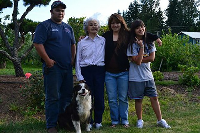 Randy Kiyokawa operates Kiyokawa Family Orchards in Parkdale, which grows approximately 100 distinct varieties of fruit. His family has been farming in the Hood River Valley for over 100 years.