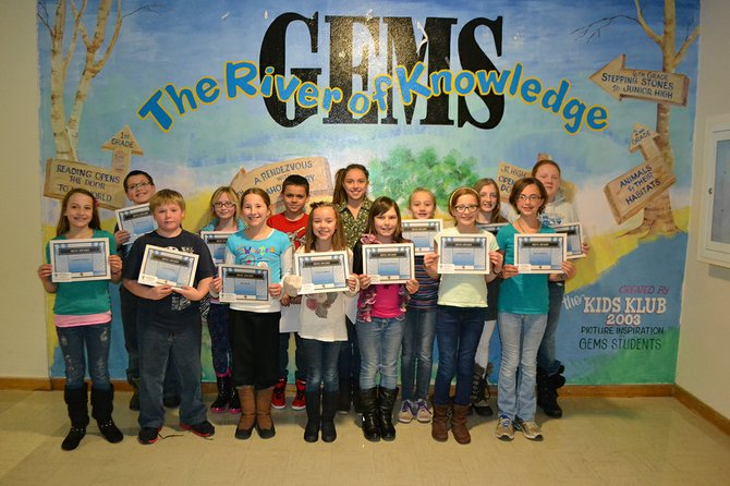 "Grangeville Elementary Middle School fourth and fifth graders from the IKUG (""I Keep Up Grades"") group are pictured here. These  students who have 3.75 GPA or above."
