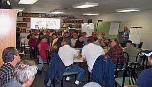 Nearly 70 people attended a Feb. 15 urban/wildland fire command exercise at the Kamiah Public Service Building.