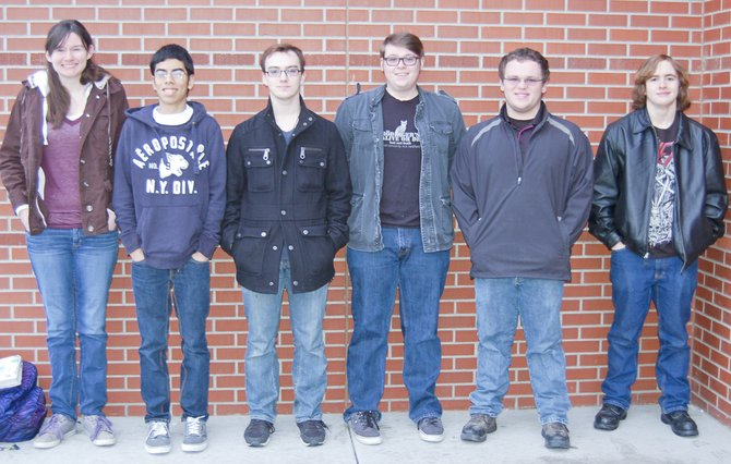 Sunnyside High School Knowledge Bowl team members (L-R) Katy Cone, Ricky Medina, Kurtis Tramel, Cody Parke, Ethan Partch and Cody Woodworth are traveling to Arlington High School on March 22 to compete at the 31st annual Washington State Knowledge Bowl Tournament.
