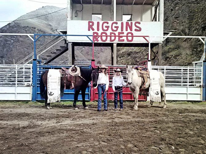 (L-R) Cassie Chandler was selected the new Riggins Rodeo Queen and Phebe Rupp the princess.