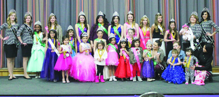 Gathered for a group photo are all those who participated in the Mardi Gras Pageant held this past Sunday to benefit Sunnyside's St. Joseph's Parish. Nearly $2,000 was raised for the local church and its outreach programs. There were 25 contestants. Winning the grand supreme title for raising the most money was Audrina Campos. Kayla Padilla earned the supreme title for raising the second highest amount of money.