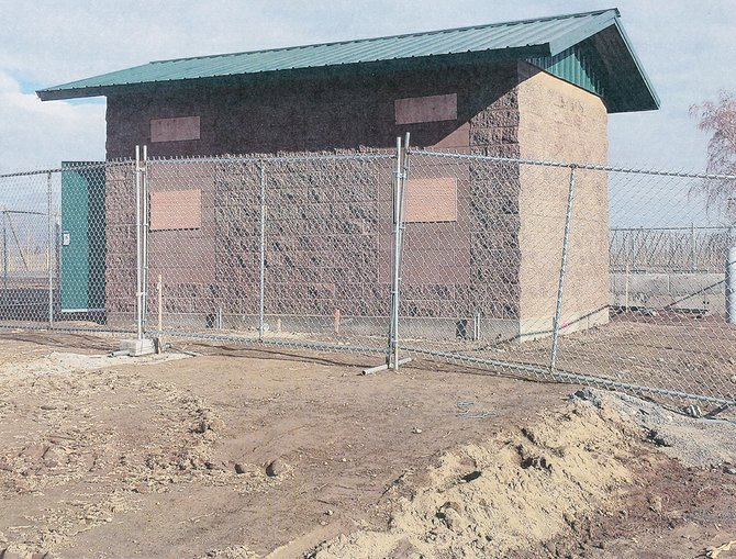 Construction on the control building of SVID's new pump station at King Tull Road has been completed. The project is scheduled to wrap up in time for water deliveries later this spring.