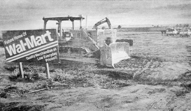 1994: The lot is prepared for the new Wal-Mart store about to be built in Sunnyside.