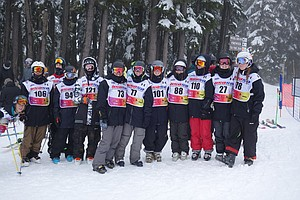 The team poses for a photo at the Mt. Hood Meadows-hosted contest.