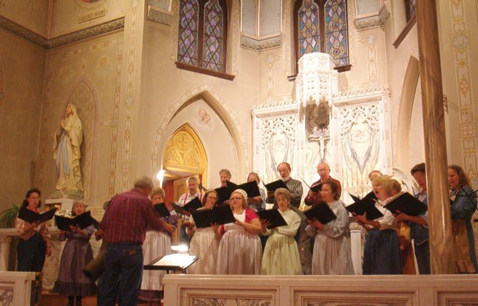 THE CASCADE SINGERS, pictured from an earlier performance, will bring musicians young and old together Monday, March 17, for St. Pat's at St. Pete's, its fourth annual St. Patrick's Day concert starting at 7 p.m.