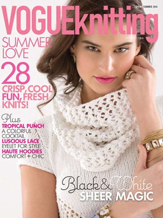 Abigail Phelps' sweater and cowl are a Vogue Knitting cover selection.