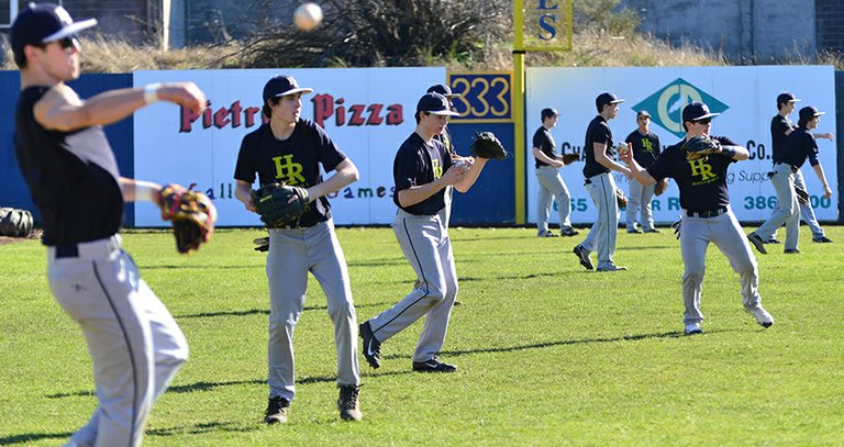 Sunny skies this week made for glorious practice conditions for spring sports teams, including HRV baseball.