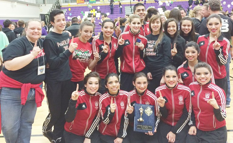 The Sunnyside High School Grizzly Dance Team this past Saturday won the District 5/6 championship title, qualifying the team for the State competition to take place Friday and Saturday, March 28-29, at the Yakima Valley SunDome. SHS scored 245 points in the hip hop category on Saturday for District championship honors. Runner-up honors were earned by Southridge High School with 233 points and Kamiakin High School earned 215 points for third place honors.