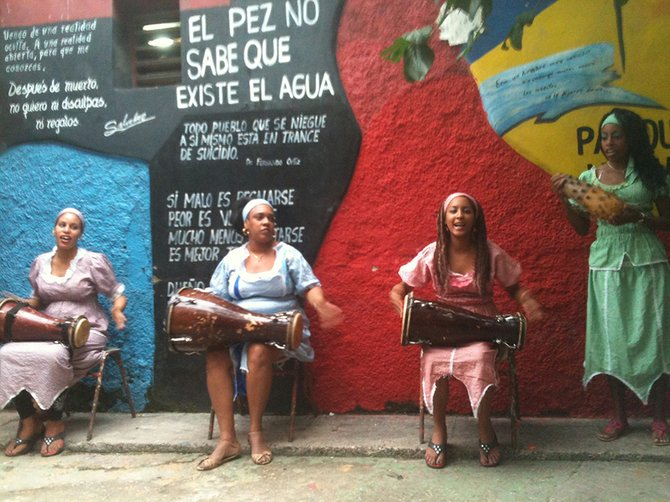 Patricia and Dick Schmuck of Hood River encountered plenty of open-air culture in Cuba, including dancers and drummers, reflecting both the Spanish and Yoruba cultures whose influences endure in the Caribbean nation.