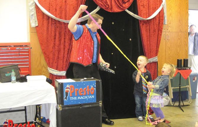 PRESTO THE MAGICIAN comes to The Dalles-Wasco County Library Friday, March 28, at 10:30 a.m. with fun for the whole family. He's only part of the spring break week fun. On Tuesday, March 25 at 1:30 p.m., and again on Wednesday, March 26 at 6:30 p.m., the library will be showing a newly released Disney film. Hint: Brrrrr!                Promotional photo
