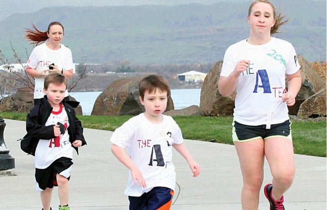 LOCAL running enthusiasts carve up the course Saturday during the sixth annual Jumpstart St. Patrick's Day River Trail 3k, 5k and 10k run/walk at Lewis and Clark Festival Park in The Dalles.