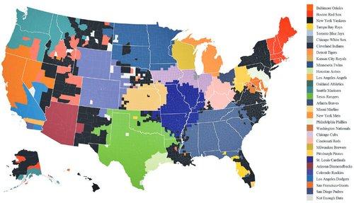 Facebook's baseball fandom map