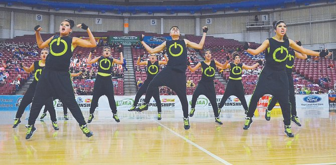 Representing Sunnyside High School, the Grizzly Dance Team expressed a fierce confidence in wowing the crowd and judges alike on the way to a second-place finish at State in the hip hop competition. The State competition was held last Friday and Saturday at the Yakima Valley SunDome. Combining power with synchronized movement, the Grizzly Dance Team was less than three points away from winning its second State championship in three years.