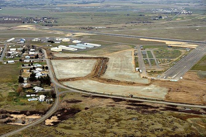 Construction is ongoing in Dallesport on a new industrial development facility located at the Columbia Gorge Regional Airport.