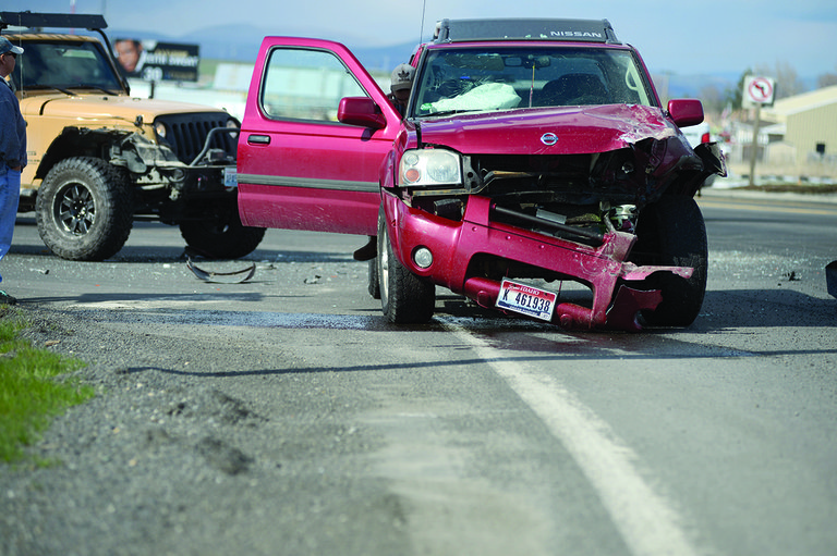 No injuries were reported in Monday's collision of two vehicles at the U.S. 95/State Highway 13 intersection.