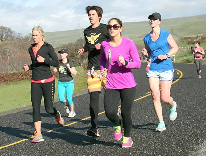 LOCAL harriers hit the pavement with passion in Saturday's Wheatfield 3k, 8k and half marathon run at Petersburg School in The Dalles. Sean Coster secured first place in the half marathon with a time of one hour and 15.37 minutes. On the women's side, Madeleine Sellers topped the field in 1:34.25.