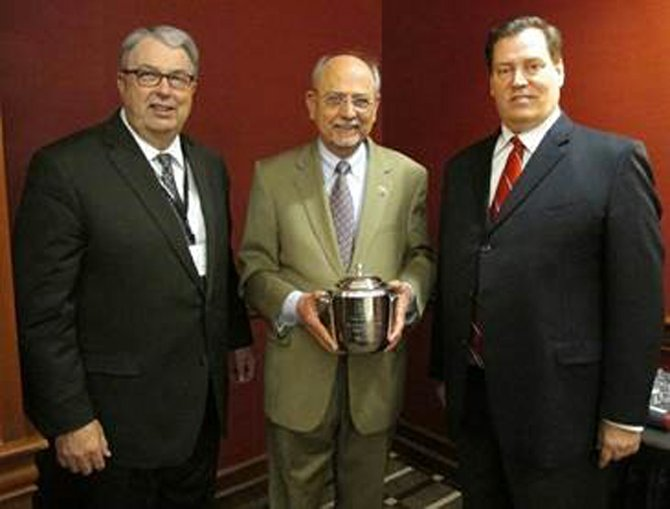 Sunnyside Irrigation District and NWRA Water Supply Task Force Chairman Jim Trull (left) 