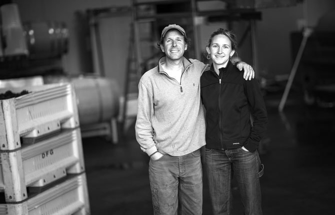 STEVEN THOMPSON and Kris Fade are the owners of Analemma Wines, which opened its tasting room this month at 1120 State Rd.	Contributed photo