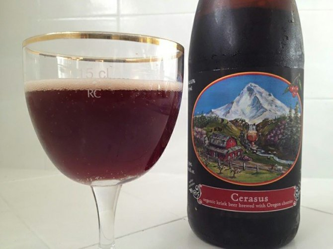 Cherries, nicely modified, make up the award-winning Cerasus Belgian ale from Logsdon.