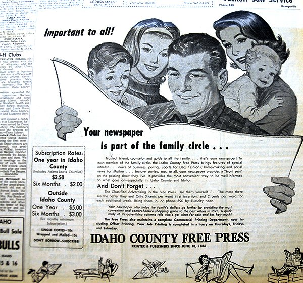 Jan. 1, 1963 Free Press ad copy