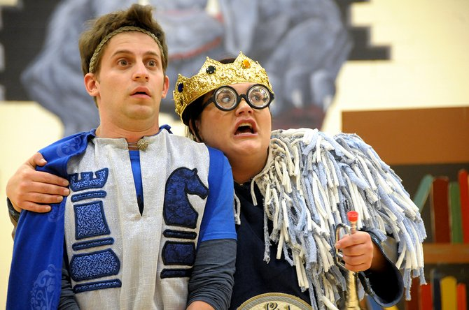 "Chad Shohet and Veronica Tobel act in a scene about the prince and the king from ""The Jabberwocky"" (based on a Lewis Carroll poem)."