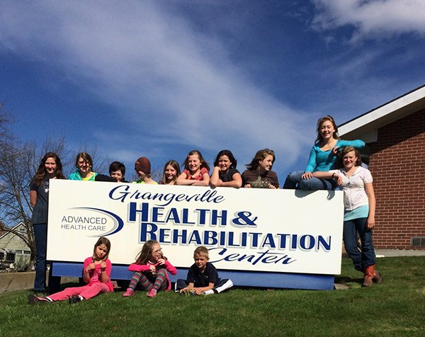 Hold Your Horse members recently completed a community service project at Grangeville Health and Rehab.