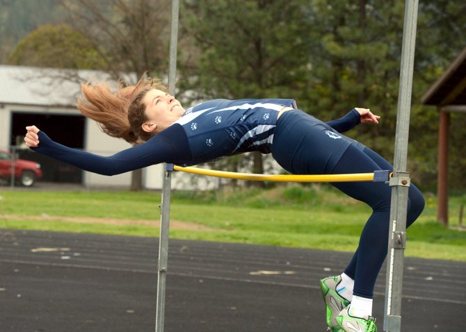 Grangeville's Kaleala Bass won four events at the Lewis-Clark/Nez Perce Games held last Friday, April 25, in Kamiah. Bass easily cleared the winning girls high jump height of 4-10 and came within inches of setting a new personal record in that event. She turned out a personal best 200 meter run (26.92 seconds), ran a season-best 400 (60.45 seconds) and tacked on a win in the 800 (2:28.67).