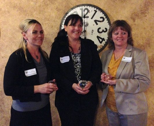 On May 1, Grangeville Community Foundation announced the first recipients of the Orrin and Eleanora Webb Community Giving Award honoring those who demonstrate the spirit of philanthropy in Grangeville. Pictured here are Grangeville El teachers Michelle Barger and Elaine Anderson as well as GEMS Principal Alica Holthaus who accepted the award for Bea Edwards.