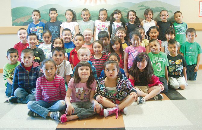 Sunnyside's Sun Valley Elementary School students of the month for April include (front row L-R) Angela Avalos, Nevaeh Fonseca and Jocelyn Acevedo; (second row L-R) Jabez Flores-Velasco, Julio Valdez-Quiroz, Robert Anderson, Diego Sanchez, Alexiah Olmedo and Francisco Garza; (third row L-R) Bryan Casio, Zaiden Gonzalez, Maritz Magana, Ty Booth, Jayden Gomez, Isabell Garcia, Daphne Aguilar and Yair Ramos; (fourth row L-R) Nathaniel Geike, Kaitlyn Gutierrez, Elias Mejia, Bryce Merry, James Gabino, Elias Escobar, Arleth Zuniga-Olmedo, Yesmin Valencia, Brianna Michel and Emmanuel Blanco; (back row L-R) Fernando Macias, Sebastian Rios, Merzediz Olivera-Cruz, Ladainian Cuevas, Lisaundrha Rivera, Kelsee Madrigal, Daniela Gurrola, Jasmin Garcia, Nayda Diaz and Angel Garcia. Not pictured are Julian Puga and Arturo Hernandez-Tinoco.