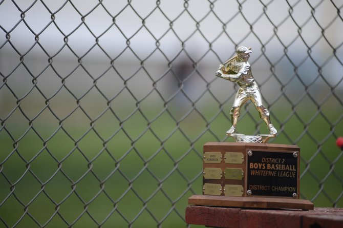The Whitepine League / 1A District II tournament trophy.